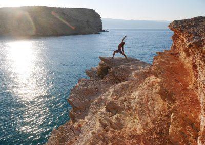 Esko yoga Koufonisi rocks