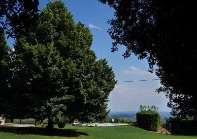 Villa Buonvisi Tuscany piscina view